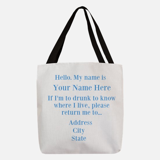 Drinking Shirt Polyester Tote Bag