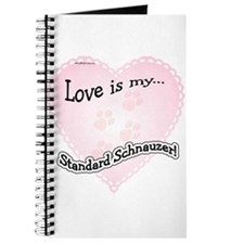 Love is my Standard Schnauzer Journal