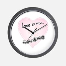 Love is my Sussex Spaniel Wall Clock