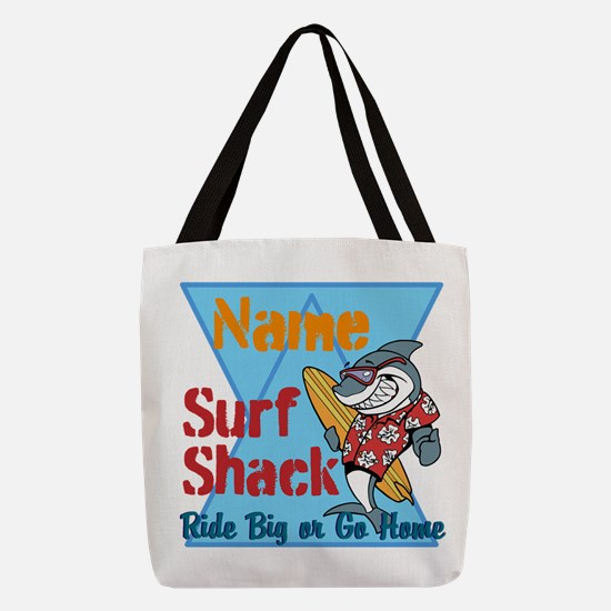 Custom surf shack Polyester Tote Bag