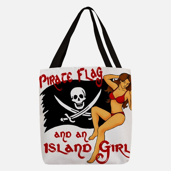 pirate girl Polyester Tote Bag