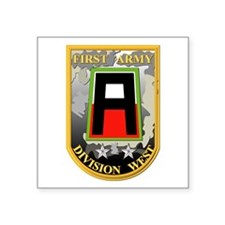 """SSI - First Army Division West Square Sticker 3"""" x"""