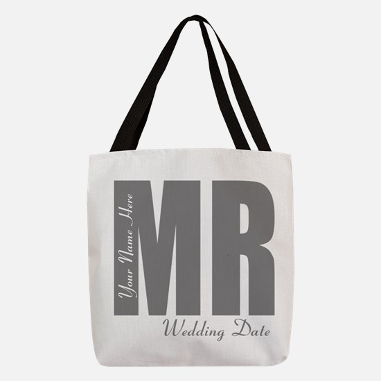Wedding Groom Polyester Tote Bag
