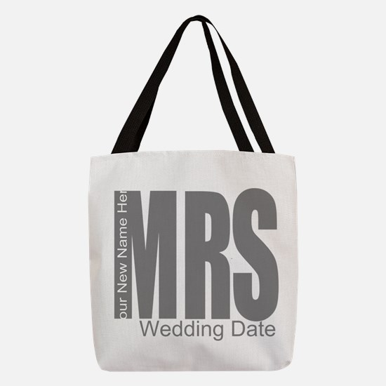 Wedding Mrs Polyester Tote Bag