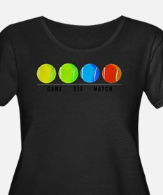 GAME SET MATCH Plus Size T-Shirt