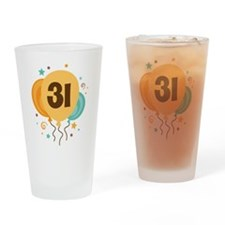 31st Birthday Party Drinking Glass
