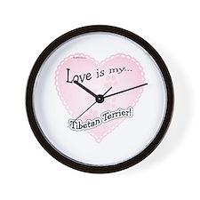 Love is my Tibetan Terrier Wall Clock