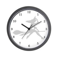 Cute Wiccan and witchcraft Wall Clock