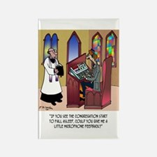 Sleeping in Church Rectangle Magnet