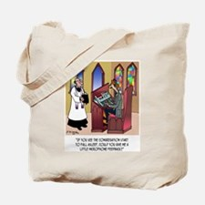 Sleeping in Church Tote Bag