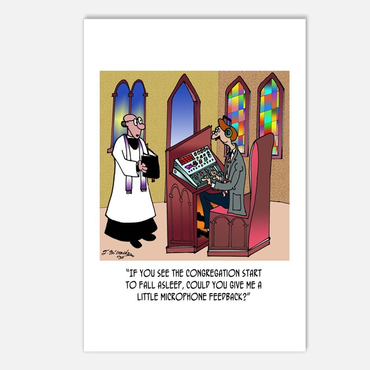 Sleeping in Church Postcards (Package of 8)