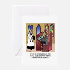 Sleeping in Church Greeting Card
