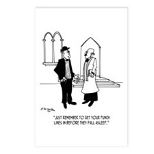 Punchlines in Church Postcards (Package of 8)