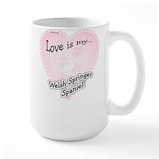 Love is my Welsh Springer Spaniel Mug