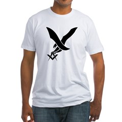 Masonic guardian eagle Fitted T-Shirt