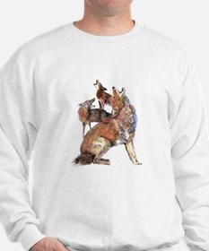 Watercolor Howling Coyotes Animal Art Sweater
