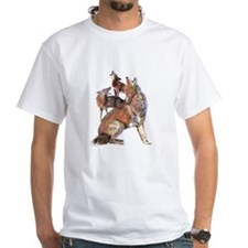 Watercolor Howling Coyotes Animal Art T-Shirt