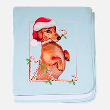 Dachshund baby blanket