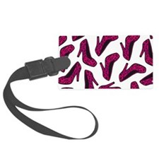 Shoe Lover Fashion Print Hot Pink Leopard Luggage