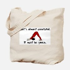 Unnatural Yoga Tote Bag