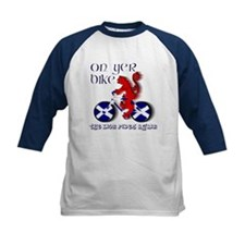 Scottish lion cycling fun Baseball Jersey