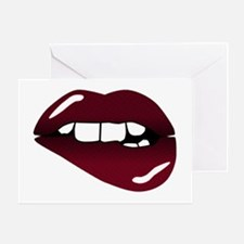 Sexy Lips Greeting Card