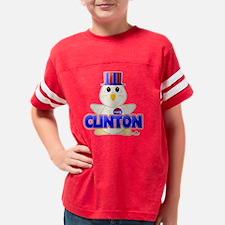 BlueClintonHuggableVotingChic Youth Football Shirt