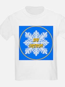 Ski Oregon Snowflake Kids T-Shirt