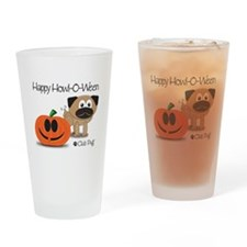 Happy Howl-O-Ween Drinking Glass
