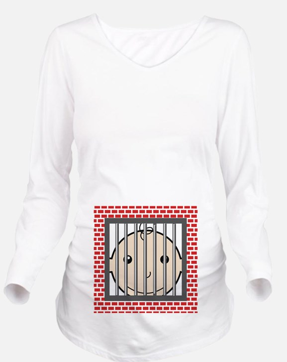 Baby Behind Bars Long Sleeve Maternity T-Shirt