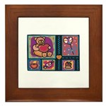 Valentine Bear Heart Framed Tile