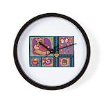 Valentine Bear Heart Wall Clock