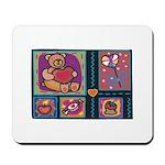 Valentine Bear Heart Mousepad