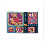 Valentine Bear Heart Small Poster