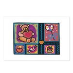 Valentine Bear Heart Postcards (Package of 8)
