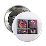 Valentine Bear Heart Button