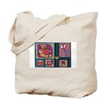 Valentine Bear Heart Tote Bag