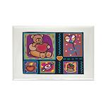 Valentine Bear Heart Rectangle Magnet (10 pack)