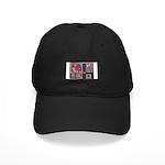 Valentine Bear Heart Black Cap