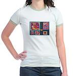 Valentine Bear Heart Jr. Ringer T-Shirt