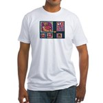 Valentine Bear Heart Fitted T-Shirt