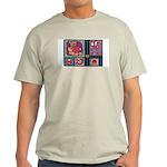 Valentine Bear Heart Ash Grey T-Shirt