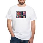 Valentine Bear Heart White T-Shirt