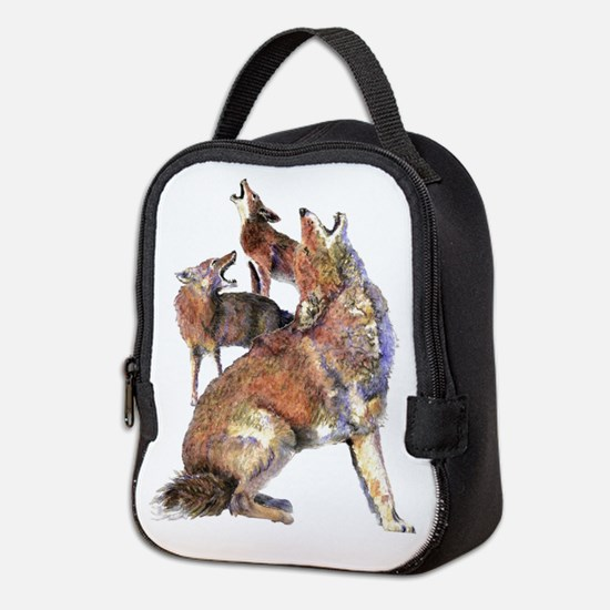 Watercolor Howling Coyotes Animal Art Neoprene Lun