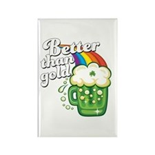 Beer is Better than Gold Rectangle Magnet
