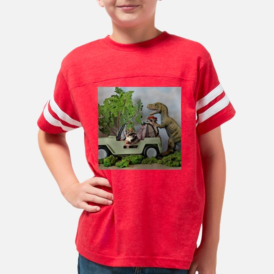 Funny Dinosaurs Youth Football Shirt