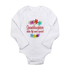 Special Granddaughter Long Sleeve Infant Bodysuit