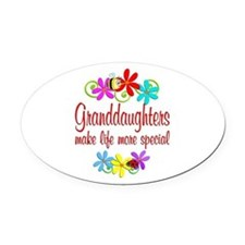 Special Granddaughter Oval Car Magnet