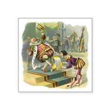 """Vintage Old King Cole Square Sticker 3"""" x 3"""""""