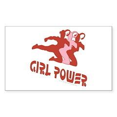 Girl Power Rectangle Decal